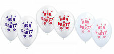 10 Hen Night Party Balloons Per Aria o Elio Vari Colori