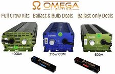 OMEGA PRO+ 600w, 1000w, 315w Digital Grow Kits & Ballast Deals