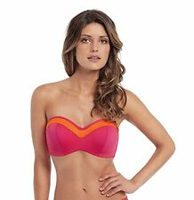 Panache Isobel Bandeau Multieay Bikini Top 0763 Cerise Pink Orange V Sizes NEW
