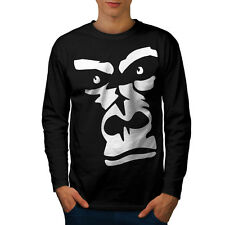 Gorilla Animal Monkey Men Long Sleeve T-shirt S-2XL NEW | Wellcoda