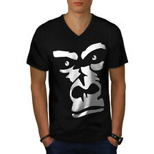 Gorilla Animal Monkey Men V-Neck T-shirt S-2XL NEW | Wellcoda