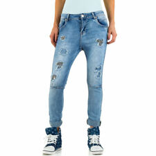 MOZZAAR DESTROYED BOYFRIEND DAMENJEANS Blau 0976 0€