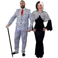 COUPLES DALMATIAN HALLOWEEN FANCY DRESS COSTUMES TV FILM MOVIE CHARACTER