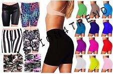 CYCLING COTTON LADIES STRETCHY LYCRA SHORT ACTIVE CASUAL SPORT WOMENS LEGGINGS