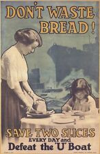 Vintage Poster Non Waste Bread WIWP052 Stampa D'arte A4 A3 A2 A1