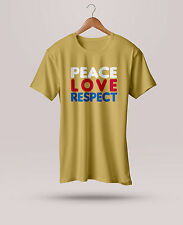 Mens Branded Peace Printed Half/Full Sleeve Round Neck Cotton