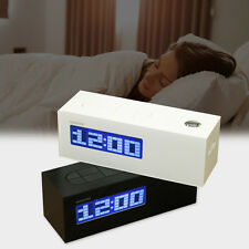 LED Digital LCD Time Projector Display Snooze Alarm Clock FM Radio Thermometer