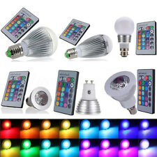 3W/9W/12W RGB E27 E14 B22 MR16 LED Light Color Changing Bombilla + Remote Contro