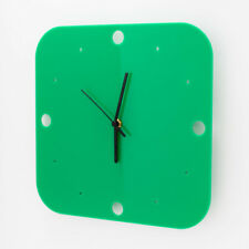 Large Acrylic Square Clock, Dots Face Detail, Living Room, Bedroom, 41 Colours