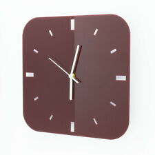 Large Acrylic Square Clock, Dashes Face Detail, Living Room, Bedroom, 41 Colours