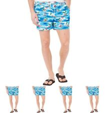 DI MODA French Connection Mens Palm Swim Shorts Multi Palm Large Waist 34""