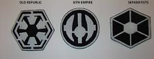 STAR WARS  aufnaher,applikationen , patches SITH EMPIRE,SEPARATISTS,OLD REPUBLIC