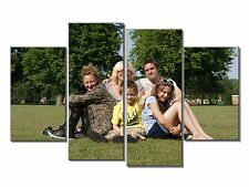 PERSONAL PHOTO IMAGE COLLAGE SPLIT PANEL 4 PANEL CANVAS WALL ART IMAGE
