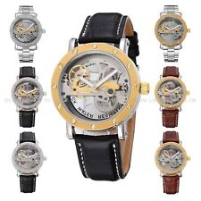 Mens Mechanical Analog Skeleton Luxury Gents Watch Automatic Fashion GiftBox