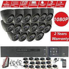 CCTV 16CH 8CH DVR Record HD 2.4MP 1080P Outdoor Home Security Cameras System Kit