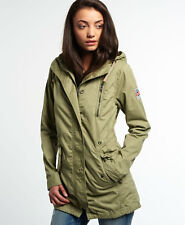 New Womens Superdry Rookie Military Parka Jacket Dull Olive