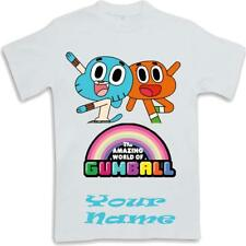Custom personalised  Kids T Shirt Sublimated ages 3 to 13 Gumball and Darwin