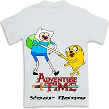 Personalised Printed Adventure Time Kids T Shirt  ages 3 to 13 Finn and Jake