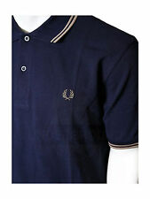 Fred Perry Polo Shirt Navy / Braun M1200 226 #5673