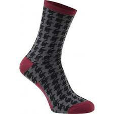 Madison Mens Adults Road Race Apex Long Cycle Cycling Socks - Houndstooth