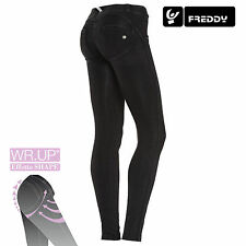 Freddy WR.UP Jeans Donna Skinny Fit WRUP1LJ1E J7/N COL. NERO CUCITURE NERE NEW