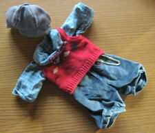 1980s Handsome KNICKERS SHIRT BOW-TIE VEST CAP OUTFIT for BEAR or DOLL England