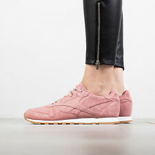 SCARPE DONNA SNEAKERS REEBOK CLASSIC LEATHER CLEAN EXOTICS [BS8226]