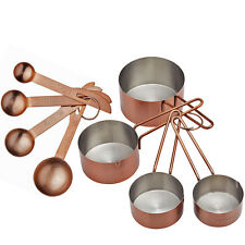 Copper Measuring Spoons / Cups Set of 4 - Baking Kitchen Gift Idea For Bakers