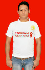 LIVERPOOL FOOTBALL CLUB HOME JERSEY T-SHIRT SPORTS WEAR FOR SOCCER(WHITE)