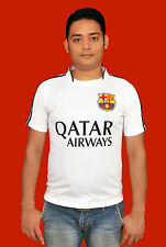 FCB HOME JERSEY T-SHIRT SPORTS WEAR FOR SOCCER(WHITE)