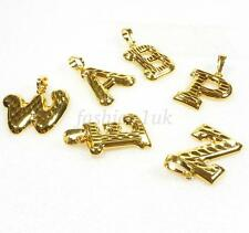 fashion1uk Charm Name Letter Gift 24K Gold Plated A B C to  X Y Z  Pendant Only