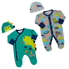 Baby Boys Clothes Sleep suit Hat  all in one cotton  Newborn - 9 months