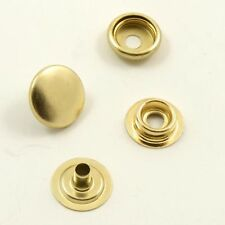 15mm 4-Part Gold Press Studs Prongs Snap Fasteners Leather Craft Heavy Duty