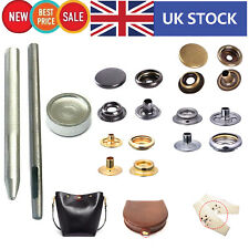 15mm Large Heavy Duty Press Studs With Fixing Tool Kit Hollow Hole Punch Tool UK