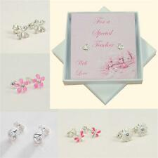 Gift for Special Teacher. Gift Boxed Sterling Silver Earrings.