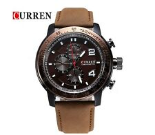 CURREN Brand Luxury Genuine Leather Band Business Casual Watch For Men