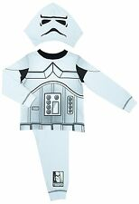 Star Wars Stormtrooper Pyjamas Boys Age 2-8 With Detachable Hood