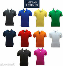 Branded New Stock Indian Terrain Polo Solid T Shirt Men Cotton Size S - XL
