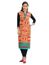 Sinina Designer Cotton Reyon With Embroidery Work Kurti-Siber6
