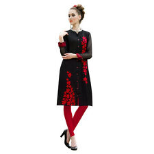 Sinina  Designer Georgette Kurti With Embroidery Work -Reflex01