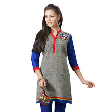 Sinina  Designer Cotton Embroidery Work Kurti-Alice03