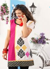 Sinina  Designer Cotton Embroidery Work Kurti-WW10
