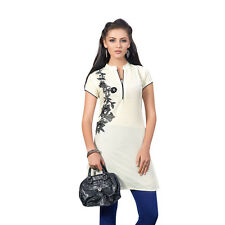 Sinina  Designer Cotton Embroidery Work Kurti-Alice01