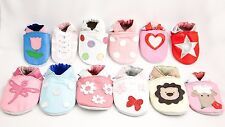 Shoozies Soft Leather Baby Shoes for Girls 0-6 6-12 12-18 18-24 months