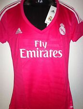 Real Madrid Maillot Jersey 2xs-xl neuf ADIDAS FEMMES / cilmacool Rose