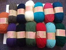 10 x 100g Balls of Hayfield Double Knitting With Wool Yarn for Knitting/Crochet