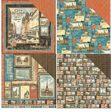 "Graphic45 Cityscapes Double-Sided Cardstock 12"" doppelseit Scrappapier 30,5 cm"