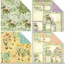 "Graphic45 Time To Flourish Double-Sided Cardstock 12X12"" doppelseit.Scrappapier2"