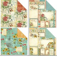 "Graphic45 Time To Flourish Double-Sided Cardstock 12X12"" doppelseit.Scrappapier4"