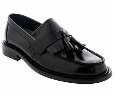 Shoes Loafers  black Tassel  60s 70s Mod Suedehead Style by IKON - NEW